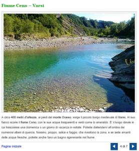 fiume ceno varsi