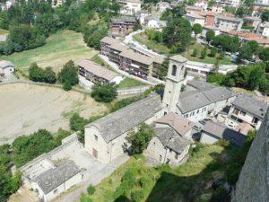 Oratorio di san Francesco di Bardi: il luogo della mostra.