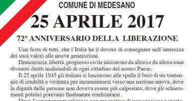 25 aprile tutti gli appuntamenti di: Fornovo, Collecchio, Medesano, Varano e Bardi.