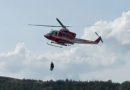 Escursionista fidentino si infortuna in località Castello di Serravalle. Interviene l'elicottero dei vigili del fuoco