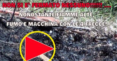 NON SI E' FERMATO NESSUNO!!!!!! …. nonostante fiamme alte, fumo e macchina con le 4 frecce!
