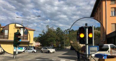 Fornovo semafori intelligenti in Via Solferino incrocio zona industriale