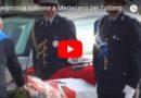 Sabato scorso l'ultimo saluto all'Ispettore capo Mauro Dodi. Il video della cerimonia e le partecipazioni al lutto cittadino.