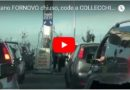 Metano FORNOVO  chiuso, code a COLLECCHIO. Estratto dal TG del  13 settembre