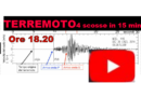 La terra trema ancora. QUATTRO scosse IN 15 MINUTI poco dopo le 18.00. Magnitudo 2.9 e 2.3.