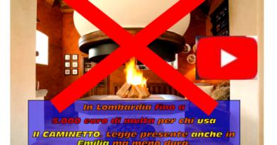 Hai il caminetto? In LOMBARDIA rischi fino a 5.000 EURO DI MULTA !!! Normativa presente anche IN EMILIA-ROMAGNA ma, per ora, senza sanzioni!
