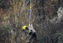 Salvataggio con l'elicottero di un cavallo. Immagini e video.