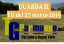 TG Parmense val Ceno e Bassa Taro del 29 marzo 2019 in onda alle19.00 sul canale 88