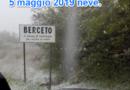 NEVE DI MAGGIO. Sopra agli 800 metri sta nevicando abbondantemente.